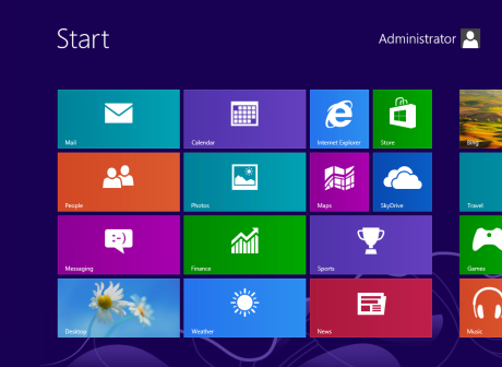 Windows 8 Desktop Screen
