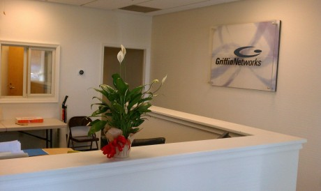 Griffin Networks reception area.